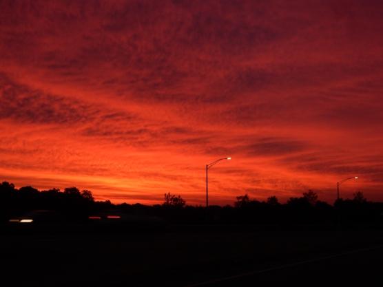 """Red sky at morning..."""