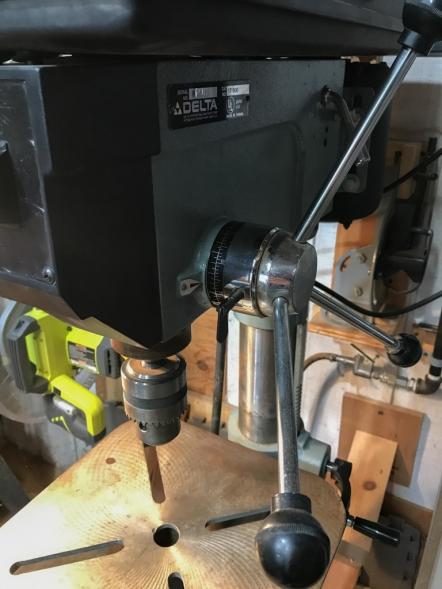 My dumb drill press.