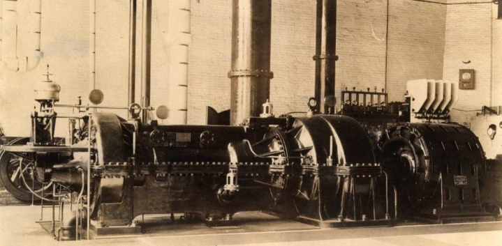 This was the steam turbine generator in the HELCO steam plant in 1901. They named it Mary Ann.