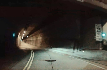 This tunnel is a lot smaller than the other tunnels through this mountain.