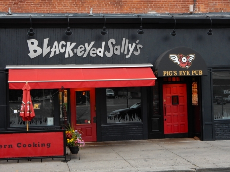 "A little bit west of Ann St is a fun little Restaurant - Black-eyed Sally's. I haven't been there in a few years, Pig's Eye Pub has been, according to their tag line: ""Oinkin and Boinkin Since 1997"""