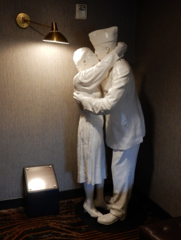 """""""Kissing Couple"""" This was in the elevator lobby on my floor."""