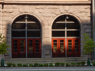 Side doors to the Renaissance Hotel - The Depot.
