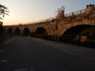 Stone Arch Bridge - restored for pedestrian use.