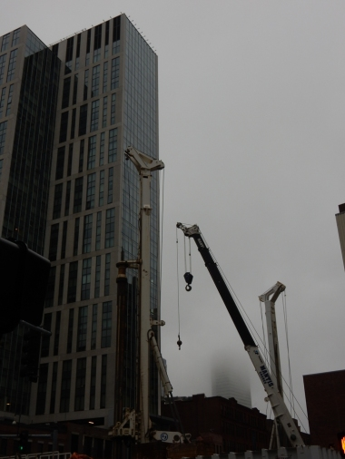 There's a lot of construction in the area of my hotel, and construction means cranes.