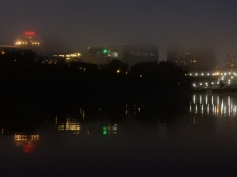 Our city is cloaked in fog.