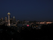 Seattle and its signature mountain.