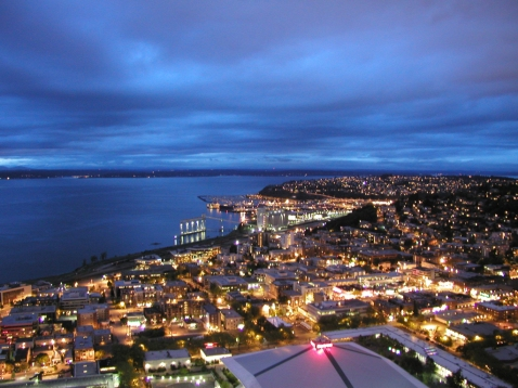 Looking northwest from the Space Needle