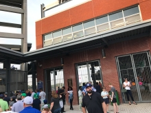 Entrance to Dunkin Donuts Park, home of the Hartford Yard Goats.
