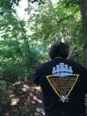 My brother guided me on a short hike along the Skunk River (I think).