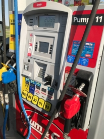 Getting gas in Iowa always confuses me. I think my rental car uses red.