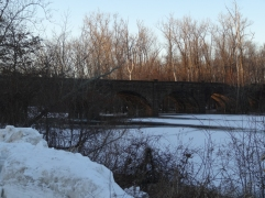 The Farmington River freezes over almost every winter.