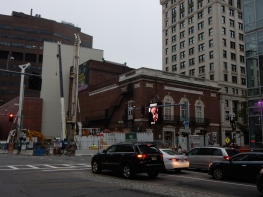 The Wilbur Theater - yes, and a couple of cranes and a pile drill.