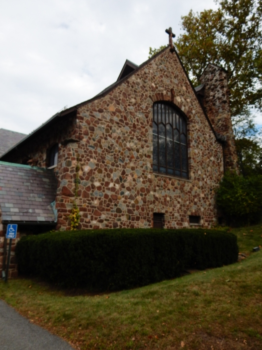 Side of the church near the main entrance