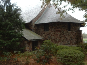 Back of the church - I love the slate roof