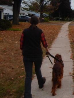 Faith was walking Maddie on Saturday