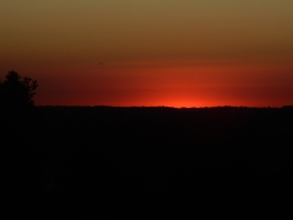 Hmmmm, I wonder if the red will stick around as the sun rises