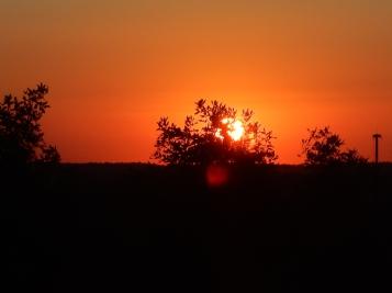 Sun is up. First meeting is still over an hour away.