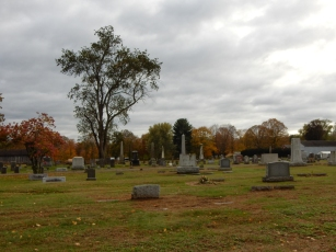 I stop at this cemetery during my commute, but usually in the morning.