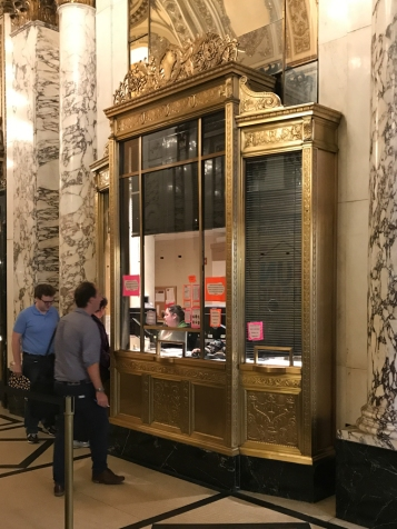 Ticket booth inside the Boston Opera House