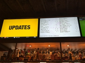 The draft beer menu. Most are New England brews, and I've more than a few.
