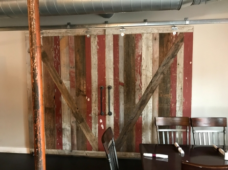 The barn doors after the woman closed them so I could get a better photo.