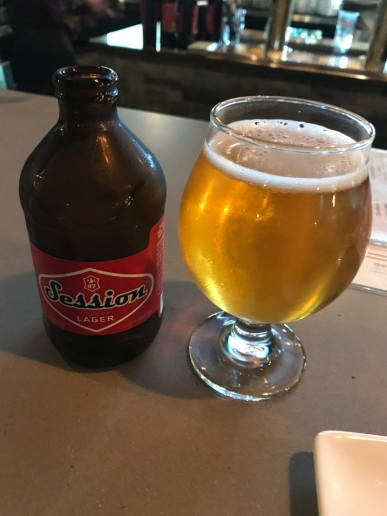 Session Lager - I think it's brewed in Portland, OR. Very nice beer.