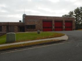 Our local Fire Department. Nothing fancy, but at least the doors are red.