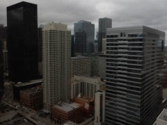 From my hotel room. Looks stormy, but it didn't rain.