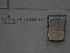 Not to be outdone by Parliament, here's a hunk of the House of Commons. Sorry England.