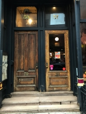 The north bookend. 37 opens into Jacob Wirth's. Not sure about 39, but it's a nice door and they seem to be a set.