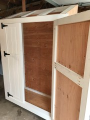 Doors are hung, getting ready to add the latches and locks.