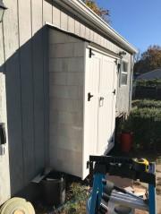 Adding the sidewall shingles