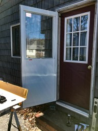 The second new storm door installed this fall. We liked the other one well enough to give it a 2nd go.