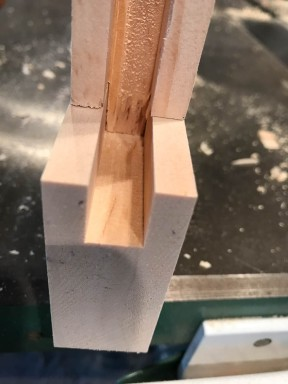 Tongue and groove joint. The joint provides mechanical strength and lots of glue surface.