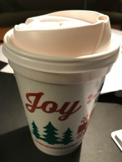 I'm not normally a fan of starting Christmas before Thanksgiving, but the cups before this featured the Patriots logo - who needs to see that?