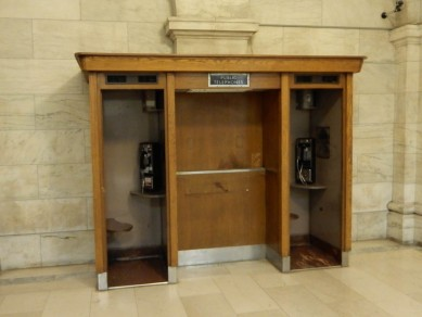 No doors, but since you don't often see phone booths these days, I had to include them.