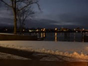 Looking north from the boat dock at Riverside Park.