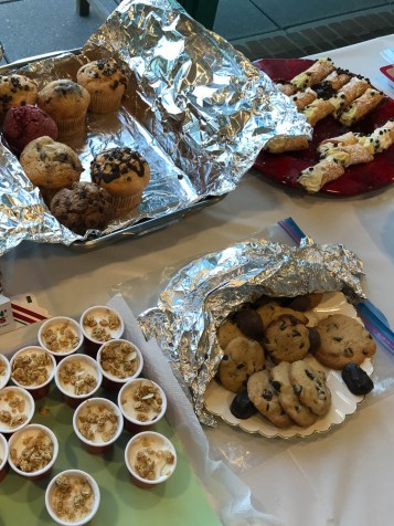 Breads, cookies, muffins and yogurt thingies.