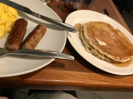 This place in Chicago let me substitute pancakes for toast.