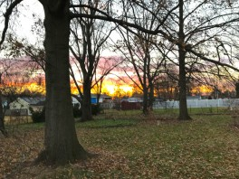 Winter is the only time I see this sunset. The trees block it out the rest of the year.