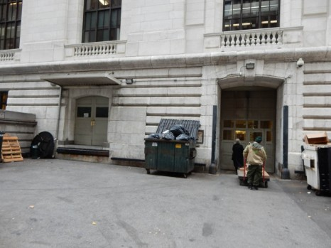 Not so grand - these are the loading doors of the NY Library