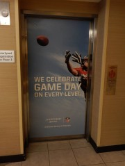 Courtyard is the official hotel of the NFL. This is the elevator.
