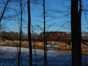 Railroad bridge across the CT River.