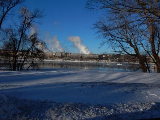 Alstrom's Windsor Locks operations across the CT River.