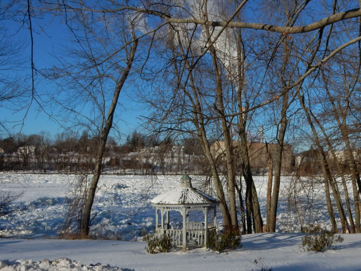 This little park in East Windsor offers a nice view of the river.