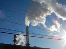 The Gas Co-Gen plant close up.