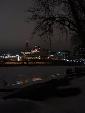 Hartford across the frozen CT River