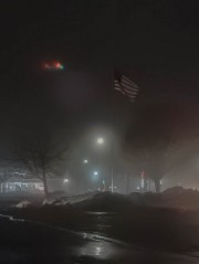 Flag in the fog