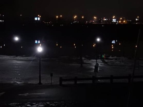 Great River Park flooded and then the flood water froze